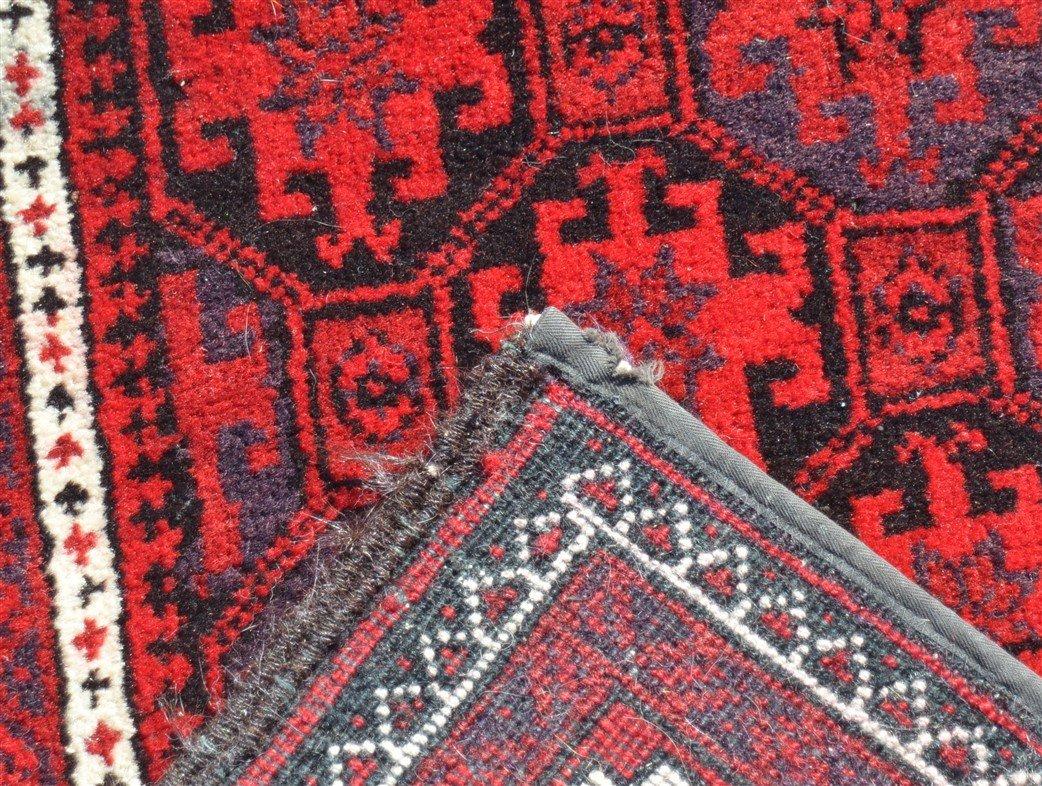 Vintage Geometric Pattern Oriental Area Rug. - 4