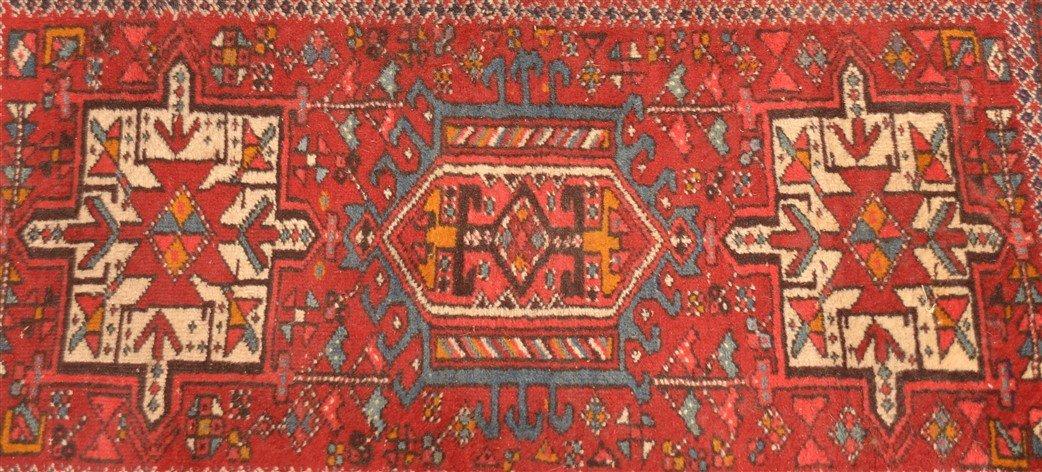 Vintage Geometric Oriental Area Rug. - 2