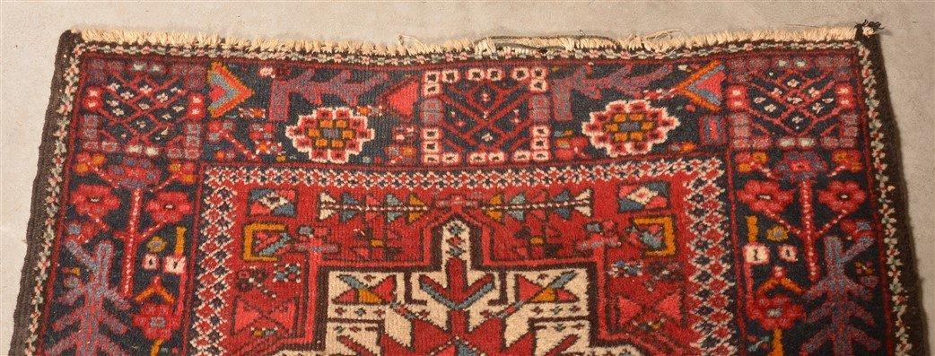 Vintage Geometric Oriental Area Rug. - 4