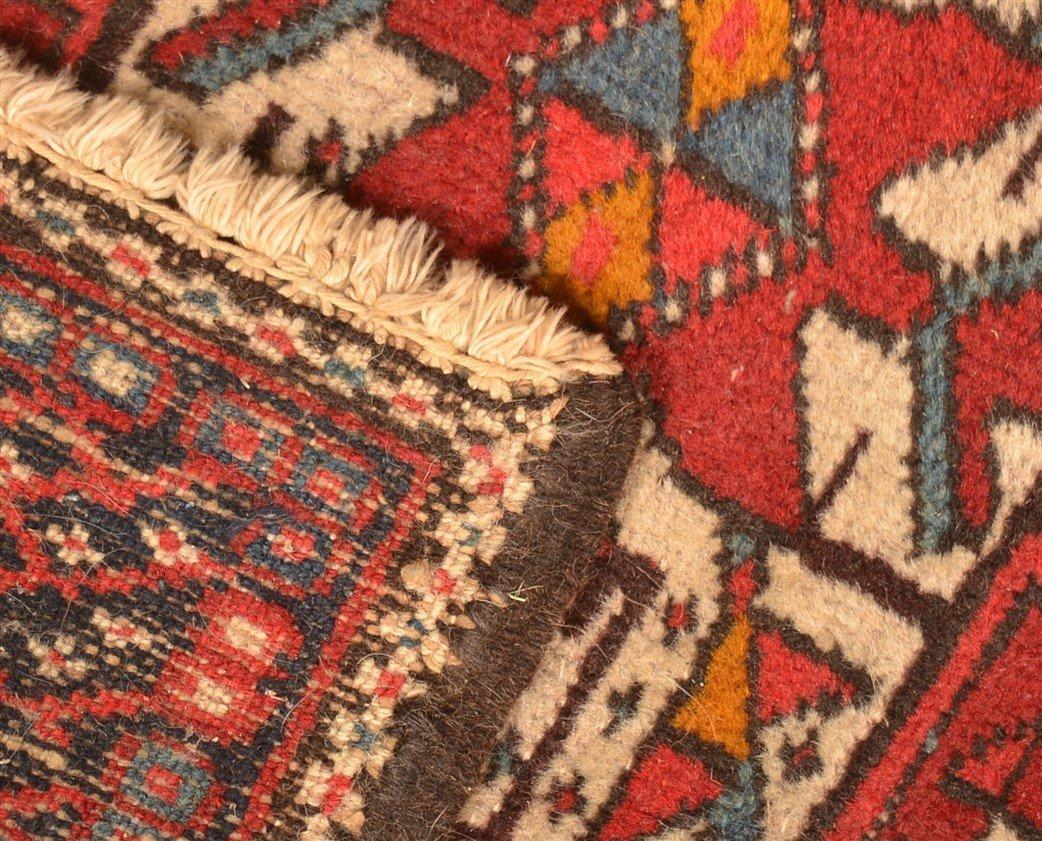 Vintage Geometric Oriental Area Rug. - 5