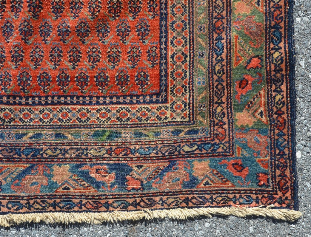 Antique Floral Pattern Oriental Area Rug. - 4