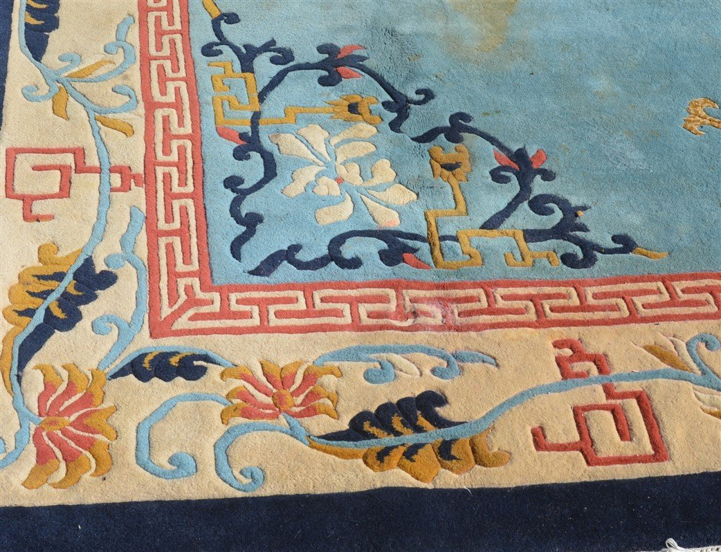 Vintage Chinese Pattern Oriental Room Size Rug. - 5