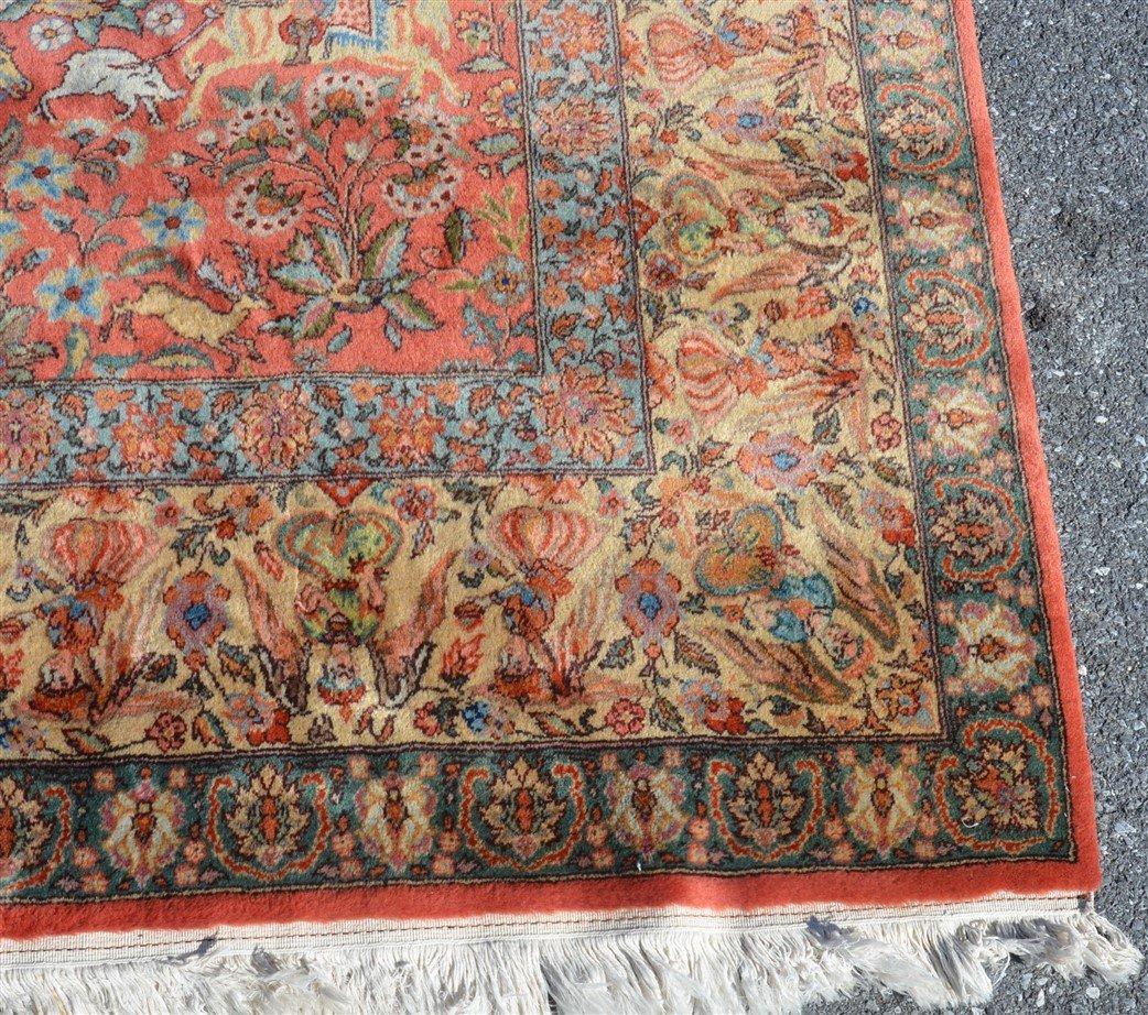 Vintage Oriental Room Size Pictorial Rug. - 5