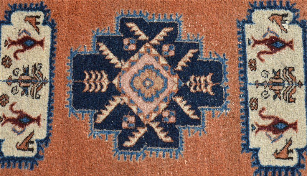 Vintage Geometric Pattern Oriental Runner. - 2