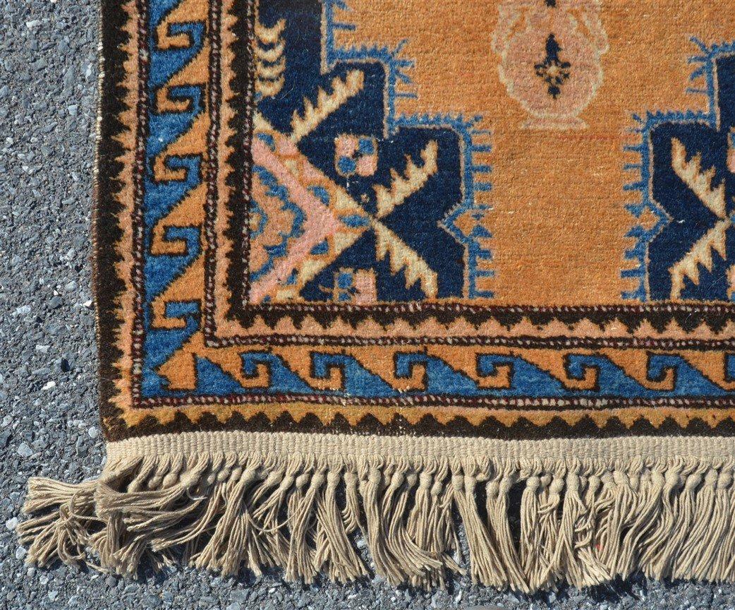 Vintage Geometric Pattern Oriental Runner. - 3
