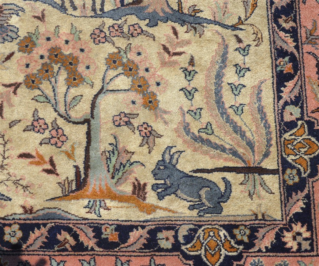 Modern Pictorial with Animals Oriental Area Rug. - 3