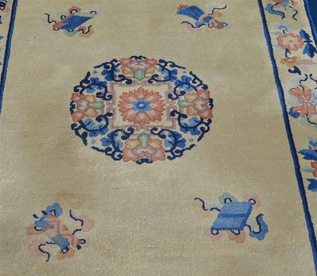 Three Medallion Chinese Pattern Oriental Area Rugs. - 2