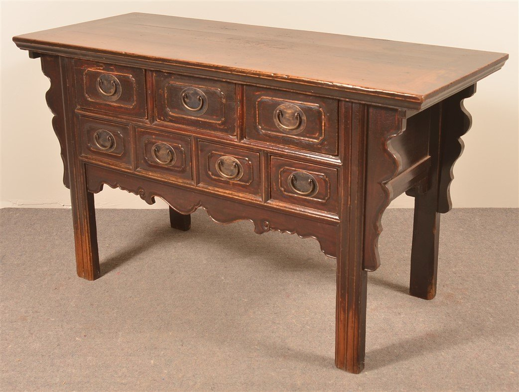 Mid 19th Century Chinese Elmwood Sideboard. - 3