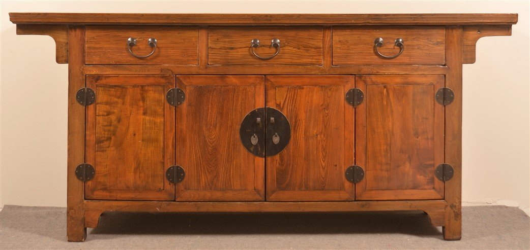 Mid 19th Century Chinese Elmwood Sideboard. - 2