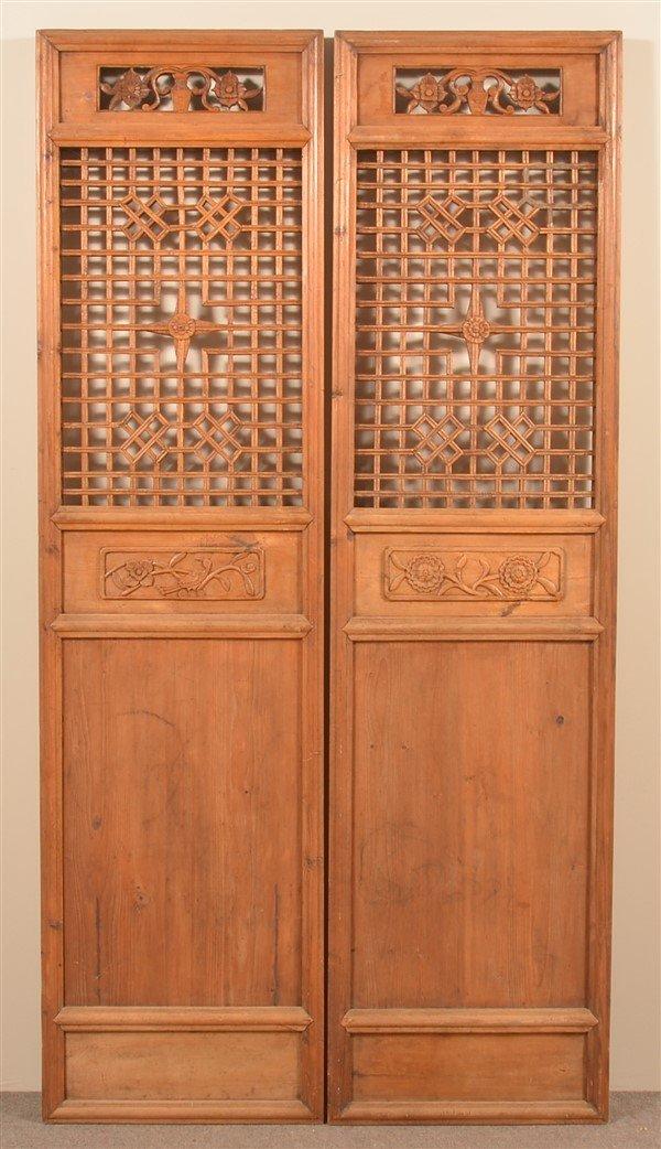 Pair of Vintage Chinese Cypress Wood Doors.