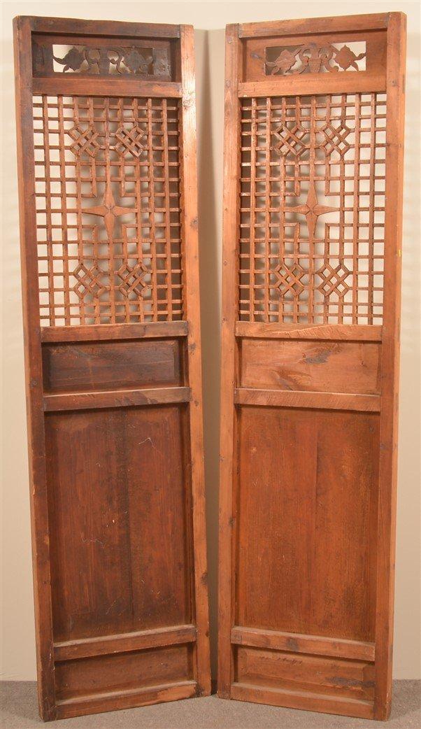 Pair of Vintage Chinese Cypress Wood Doors. - 4