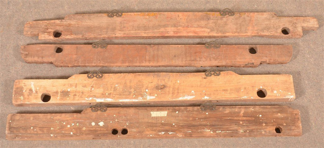 5 Antique Chinese Carved Architectural Elements. - 2