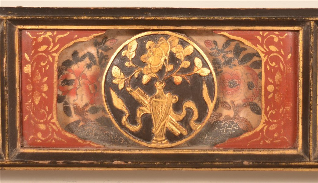 Three Antique Chinese Lacquered Bed Testers. - 2