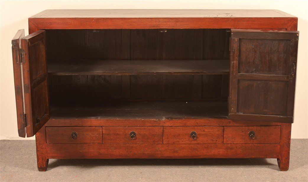Vintage Chinese Lacquered Cypress Sideboard. - 3