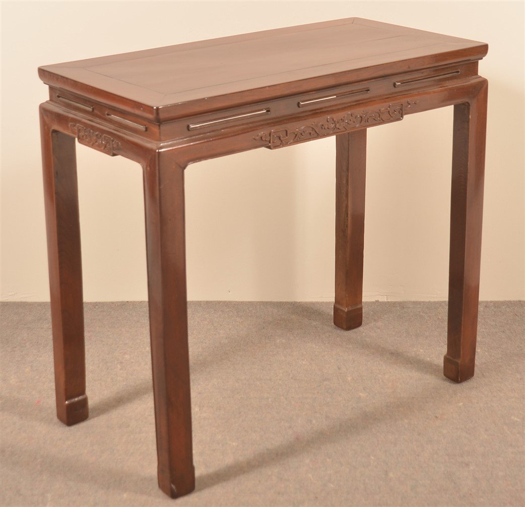 Late 19th Century Chinese Elmwood Side Table. - 2