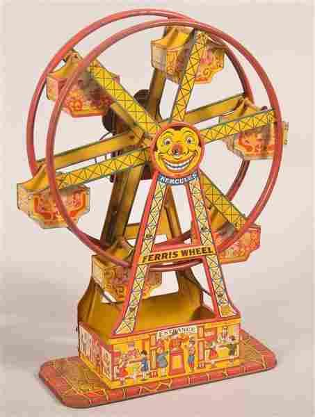 J. Chein Tin Lithograph Wind Up Hercules Ferris Wheel.