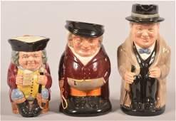 Three Large Royal Doulton Character Mugs.