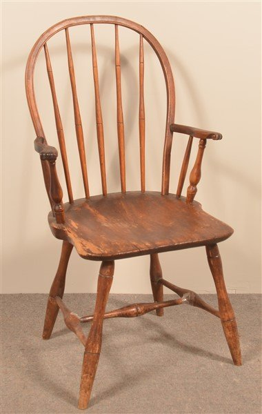 Windsor Mixed Wood Bow-back Armchair.