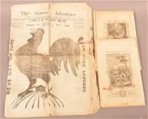 Big Chicken Illust in Newspaper + Bible Prints