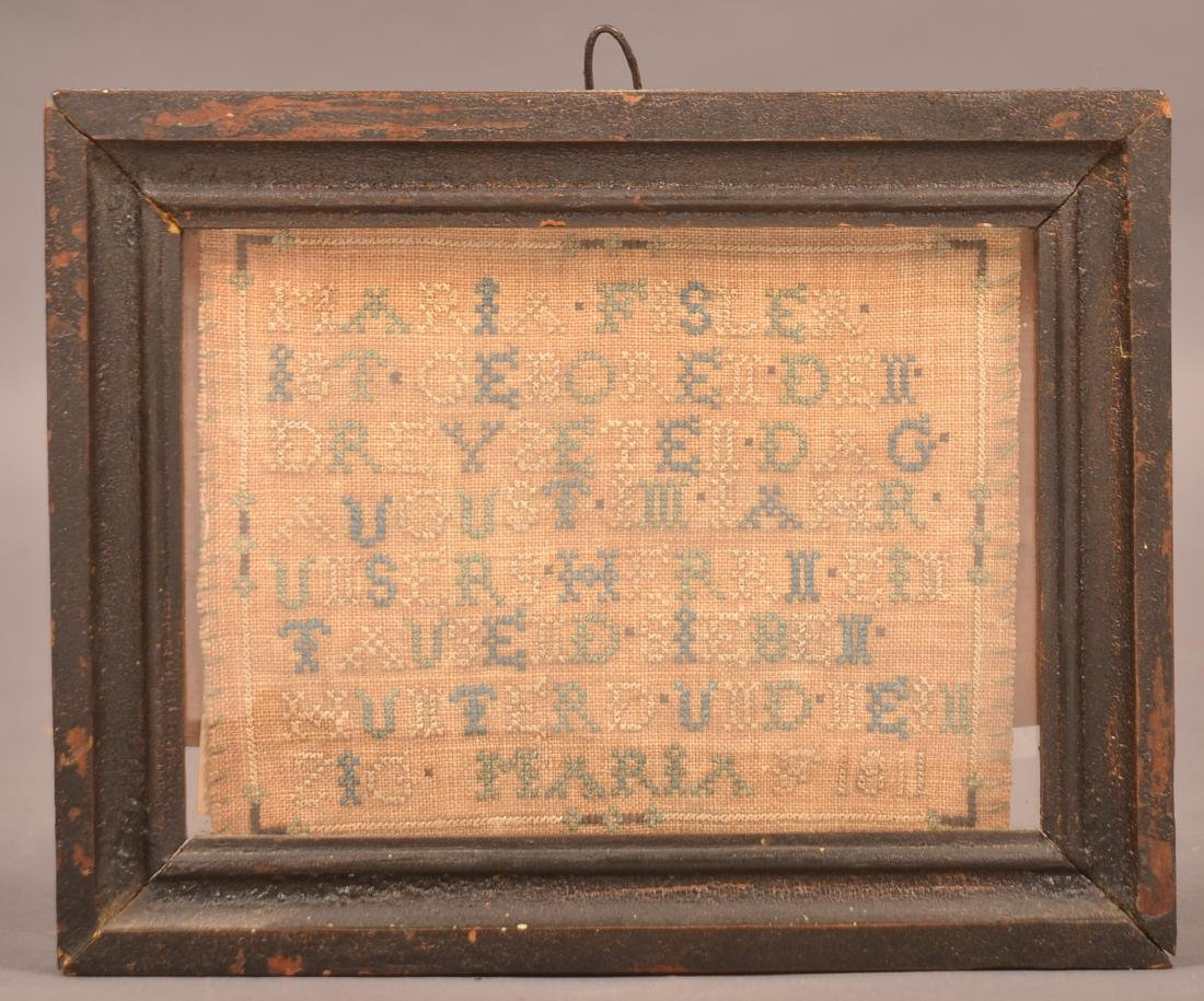 Lancaster Co. Amish Needlework Record of Birth.