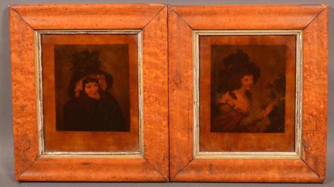 Two Francesco Bartolozzi Color Stipple Engravings.