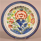 Gaudy Dutch China Carnation Pattern Plate