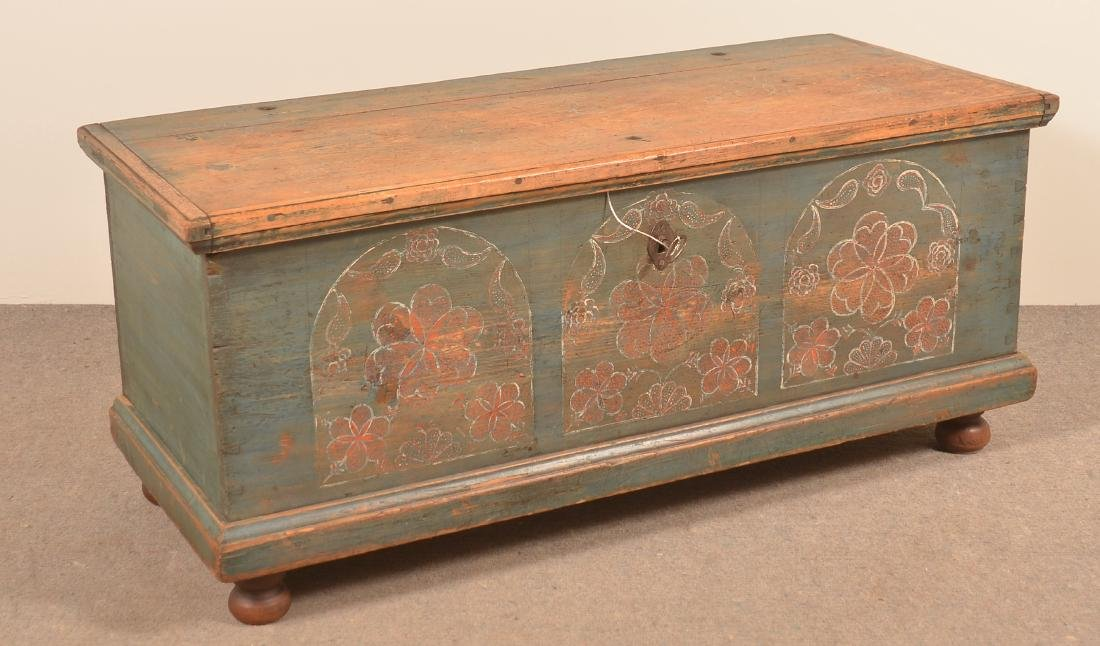 PA Compass Artist Painted Blanket Chest.