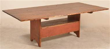PA 19th Century Softwood Bench Table.