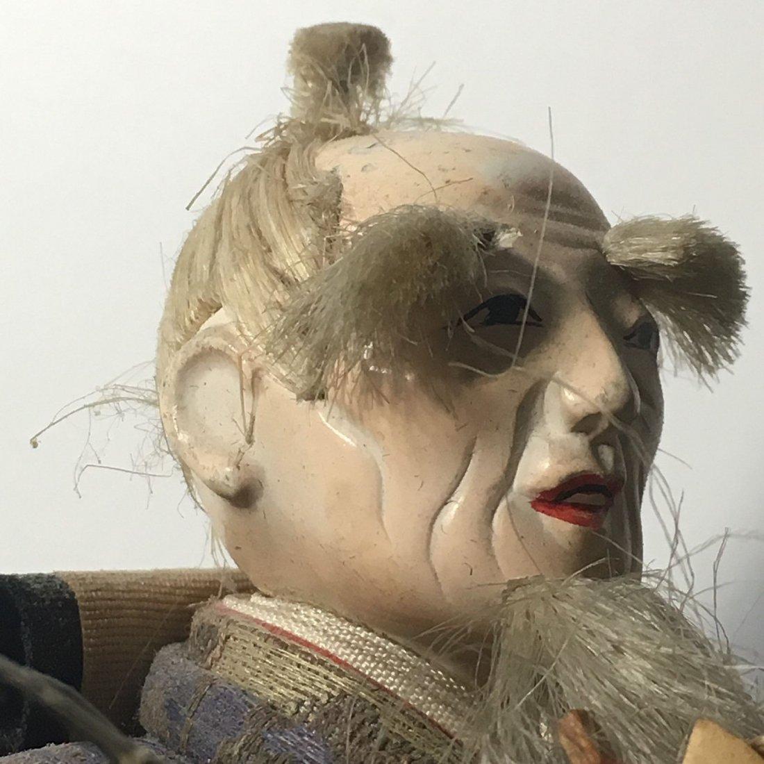 Antique Edo Period 1800s Japanese Samurai Doll - 10