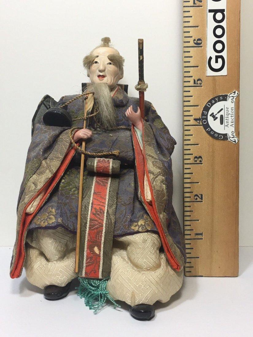 Antique Edo Period 1800s Japanese Samurai Doll