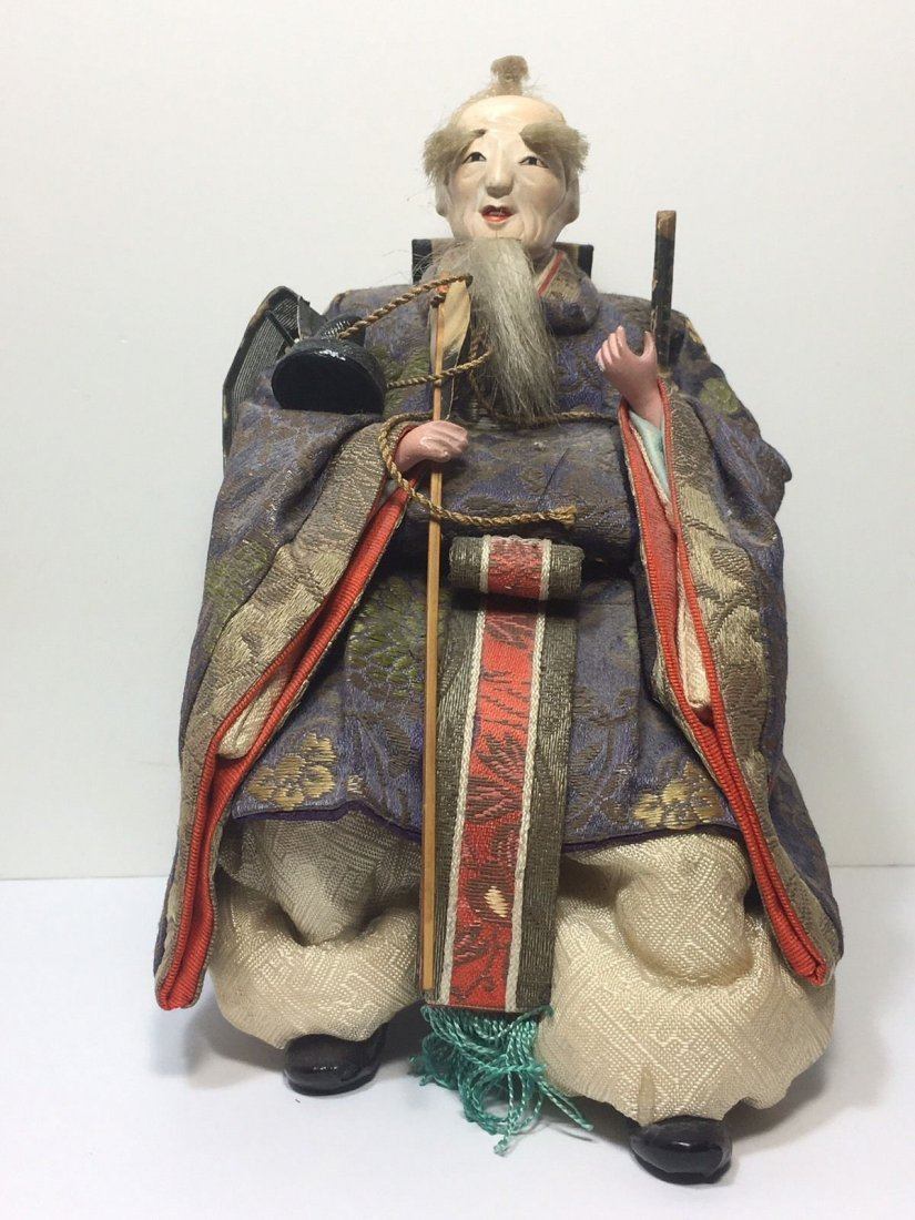 Antique Edo Period 1800s Japanese Samurai Doll - 2
