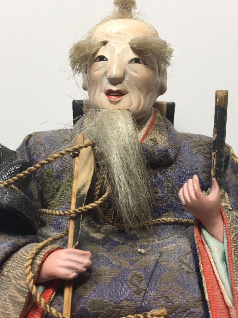Antique Edo Period 1800s Japanese Samurai Doll - 3