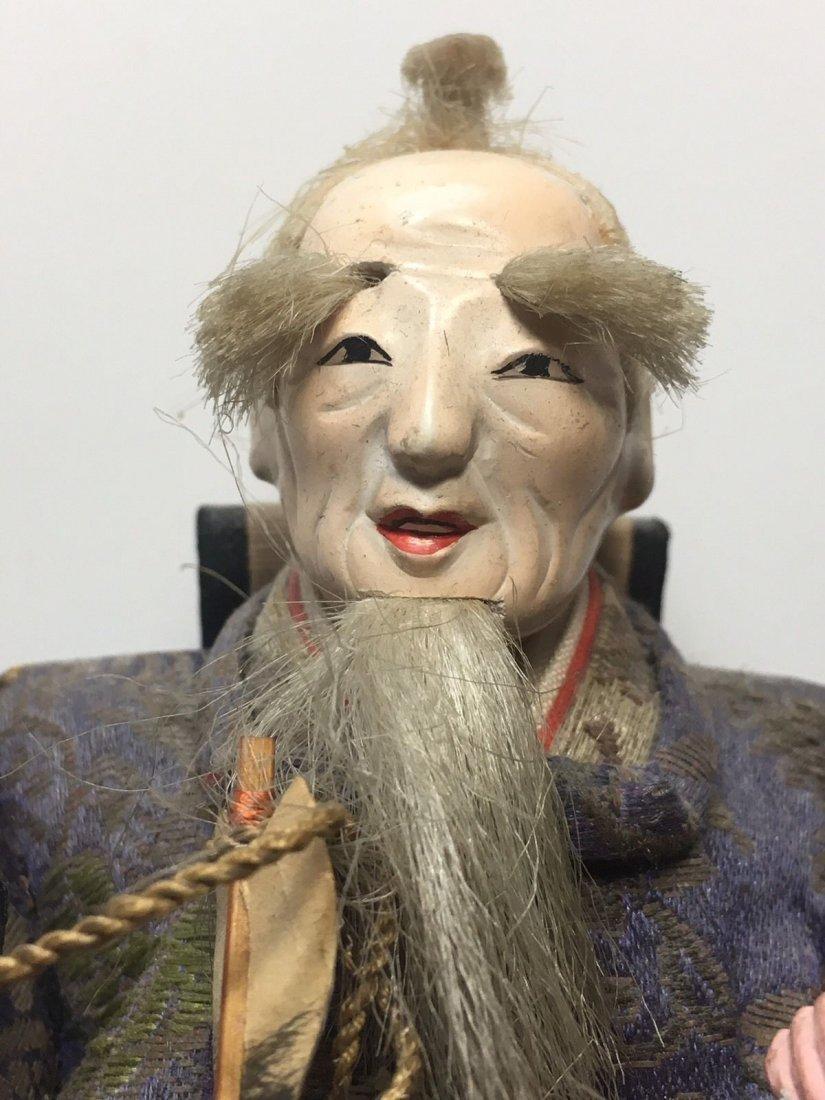 Antique Edo Period 1800s Japanese Samurai Doll - 4