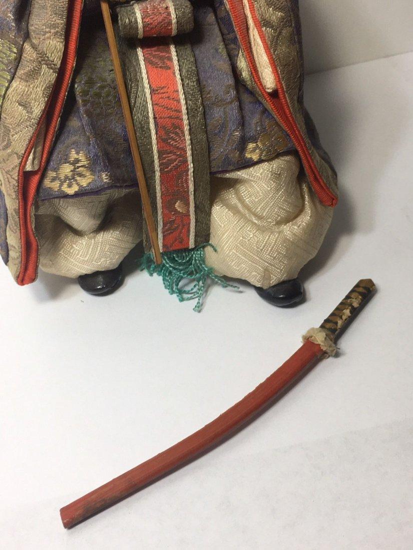 Antique Edo Period 1800s Japanese Samurai Doll - 5