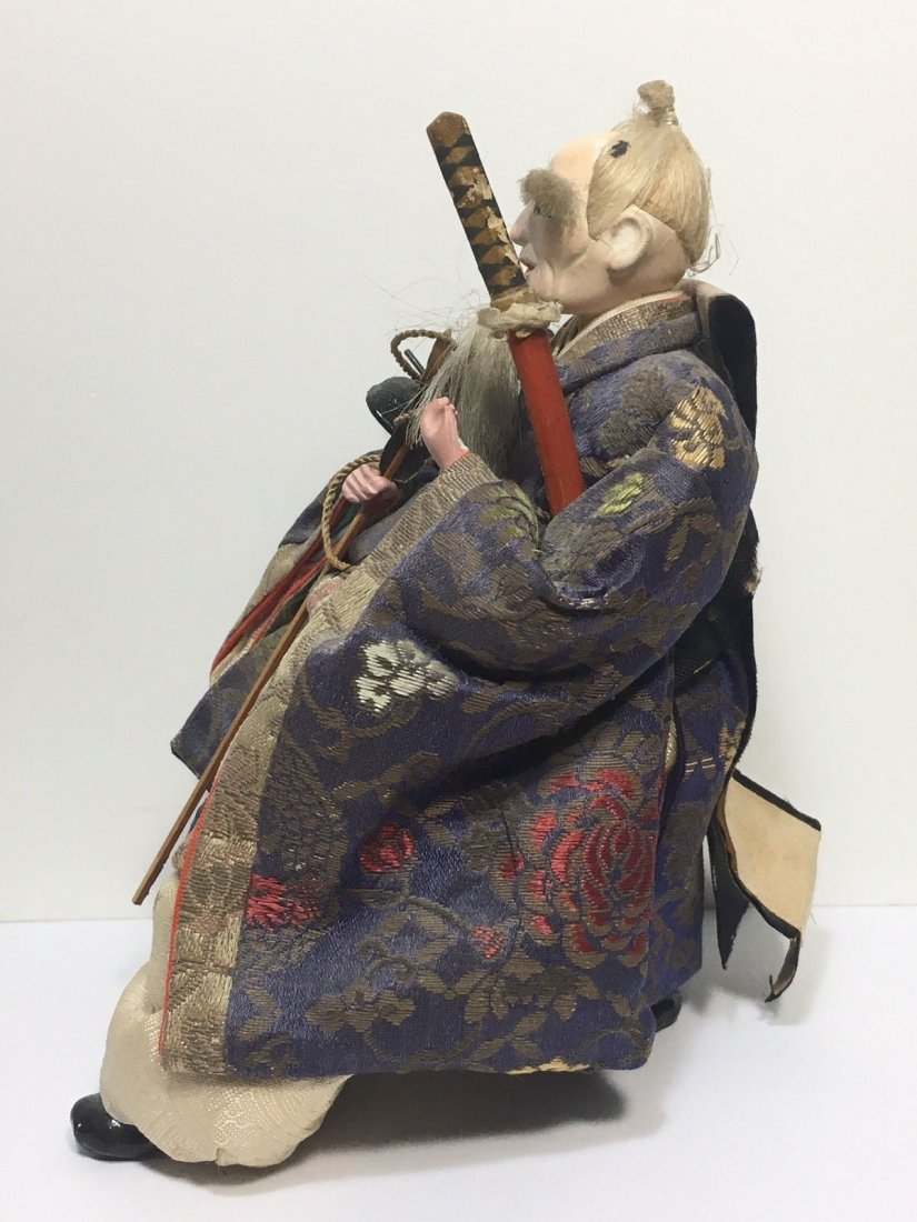 Antique Edo Period 1800s Japanese Samurai Doll - 6