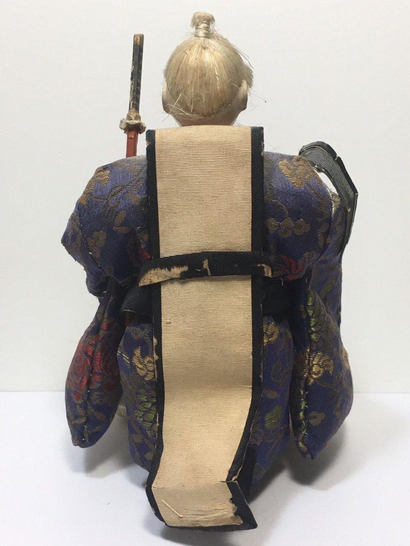 Antique Edo Period 1800s Japanese Samurai Doll - 7