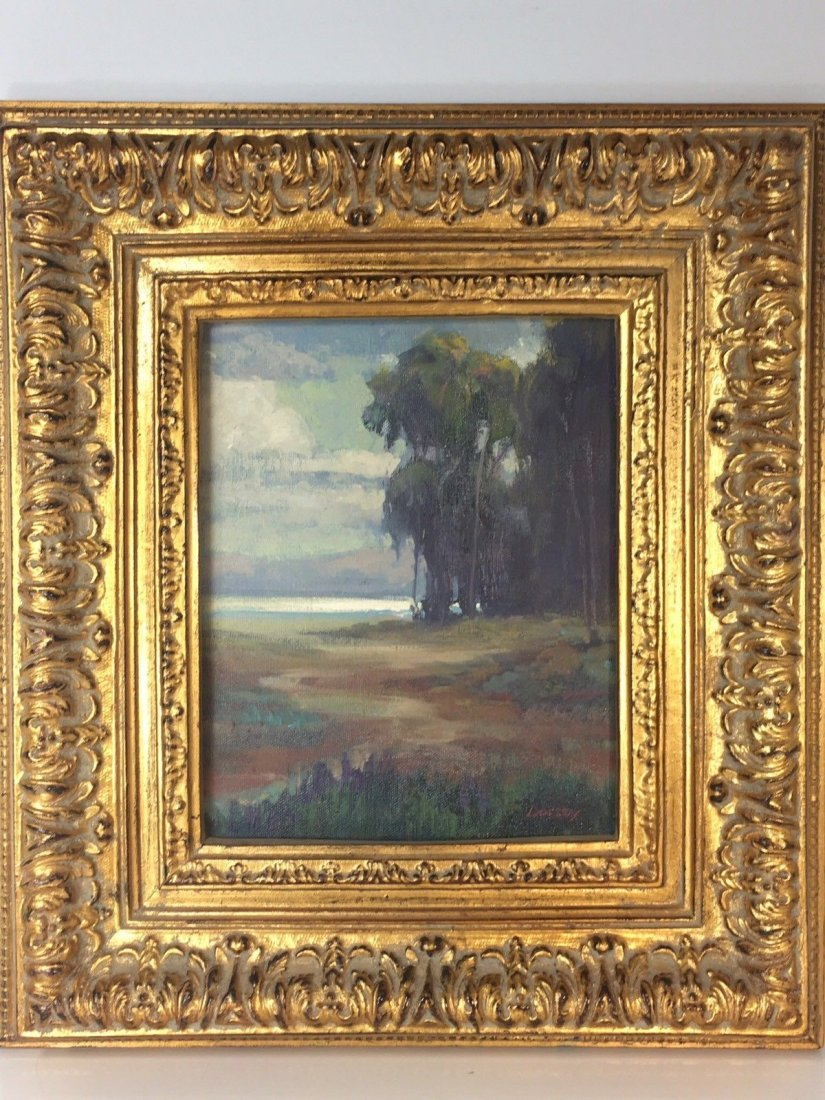 "William Dorsey California Landscape Painting 17""X14"""