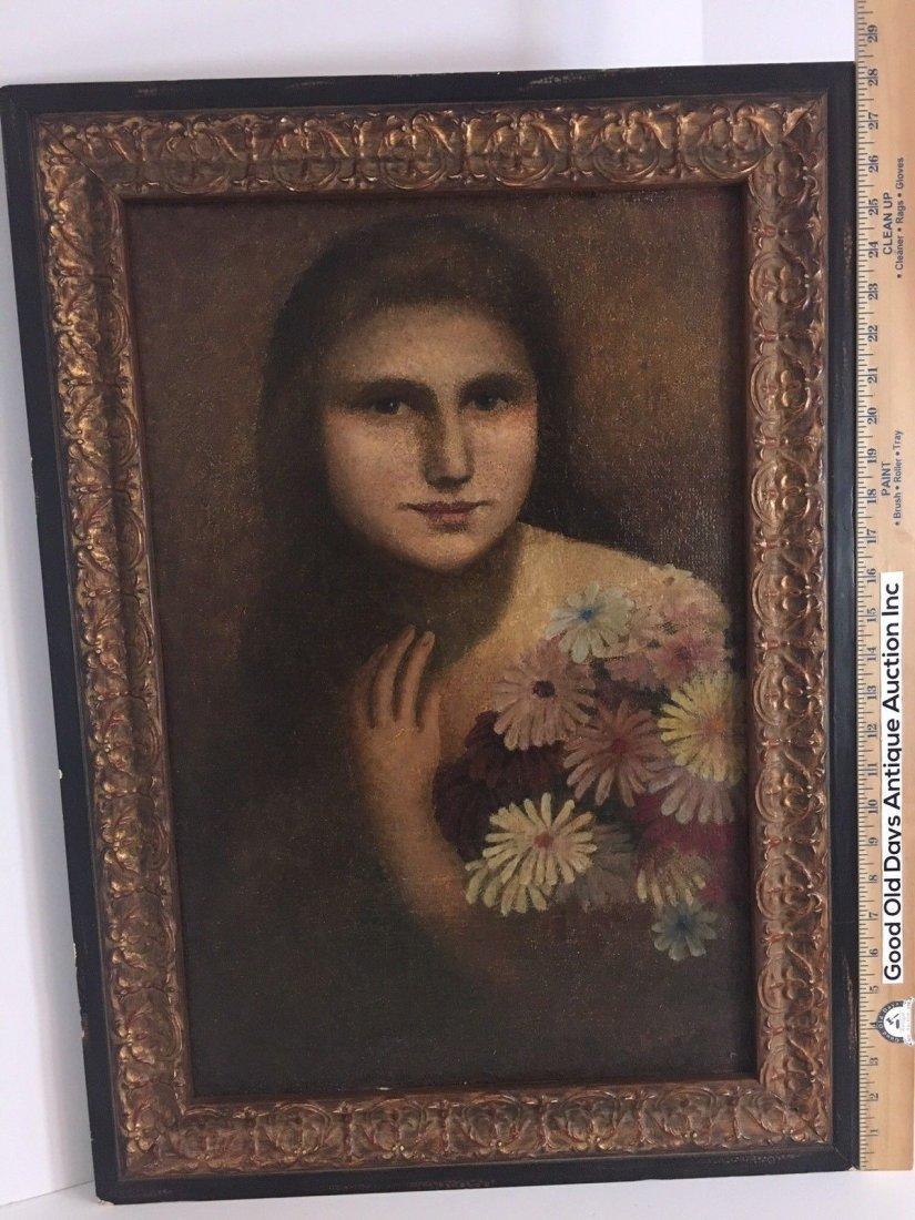E. Kosa Painting Portrait Oil on canvas Signed. - 5