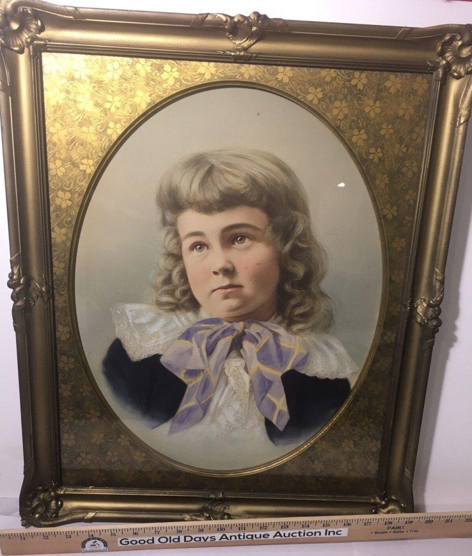 Antique French 1800's Watercolor Painting boy Portrait - 5