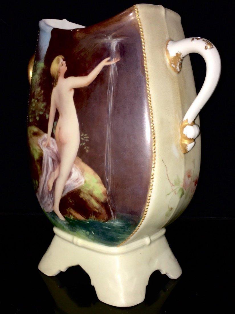 Antique Limoges porcelain portrait Nude Vase - 3