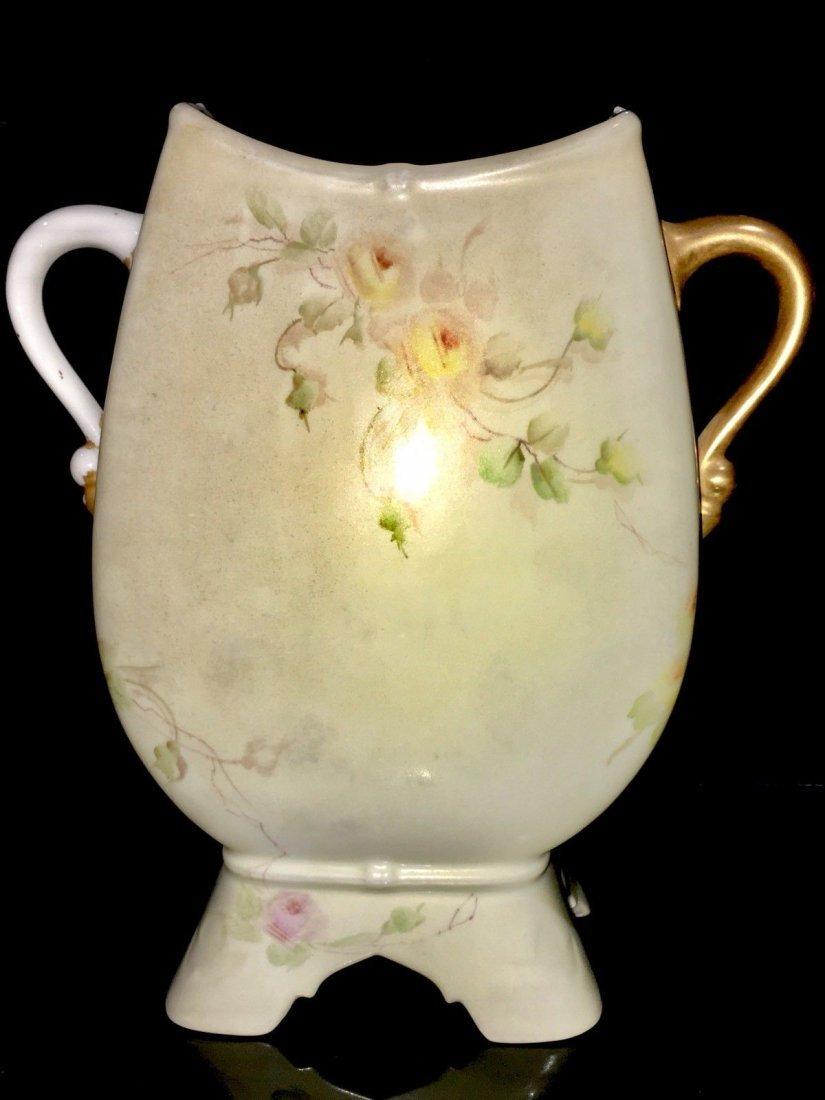 Antique Limoges porcelain portrait Nude Vase - 4