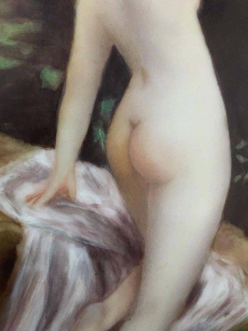 Antique Limoges porcelain portrait Nude Vase - 8