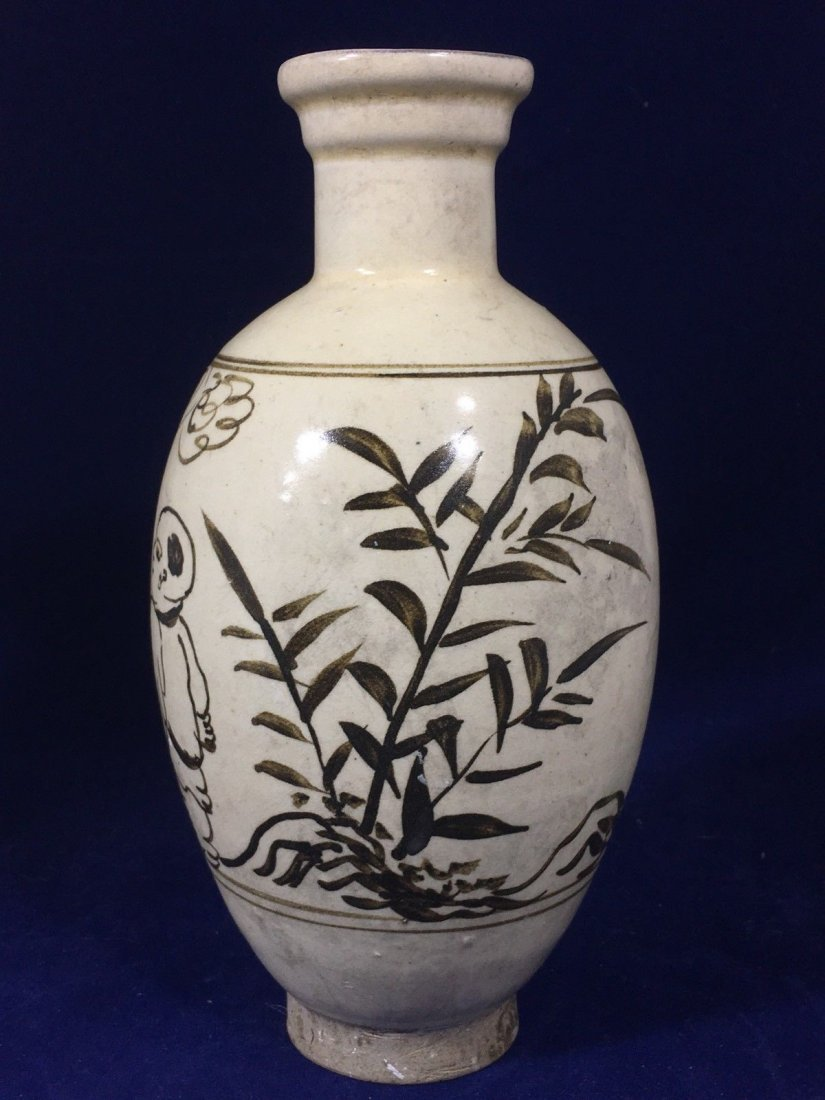 Vintage hand painted Chinese Vase. - 5