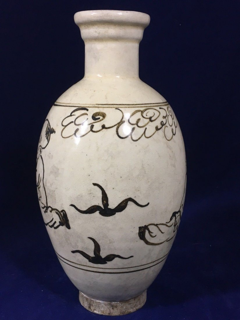 Vintage hand painted Chinese Vase. - 6