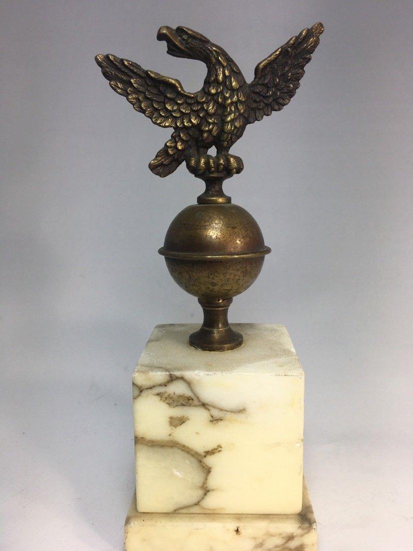 Vintage German Eagle over Marble Statue