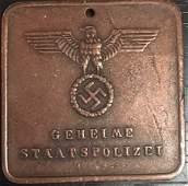 WW2 NAZI GERMAN BUCHENWALD CARD