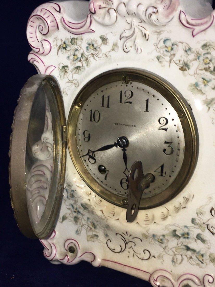 Porcelain Mantle Oakley Clock Seth Thomas - 10