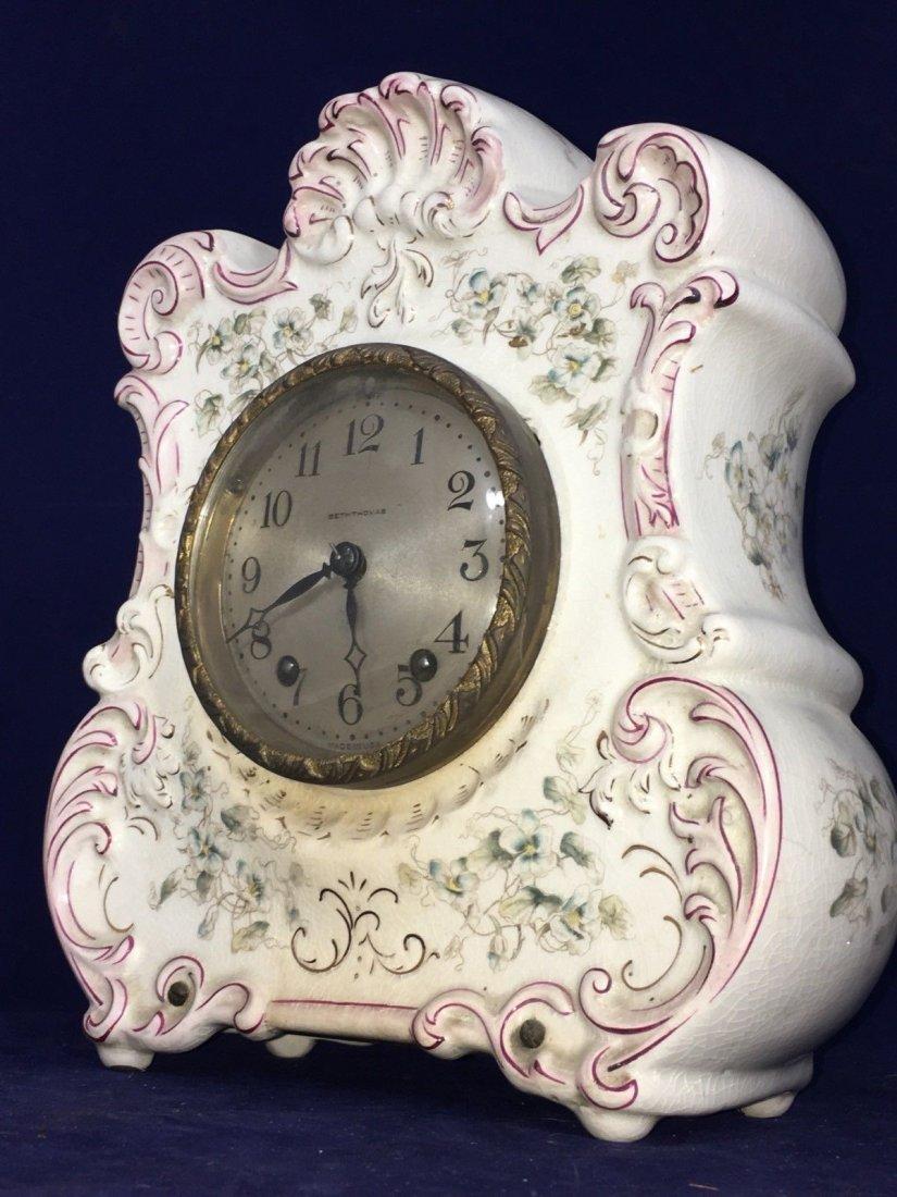 Porcelain Mantle Oakley Clock Seth Thomas