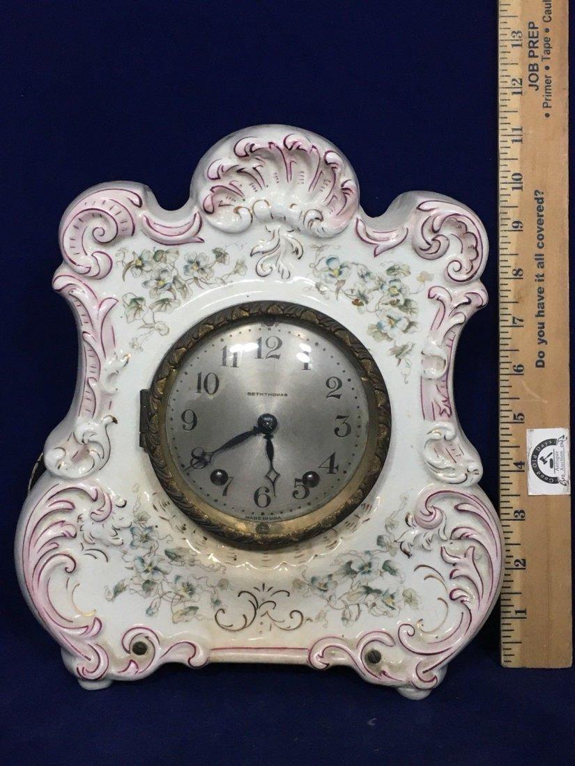 Porcelain Mantle Oakley Clock Seth Thomas - 2