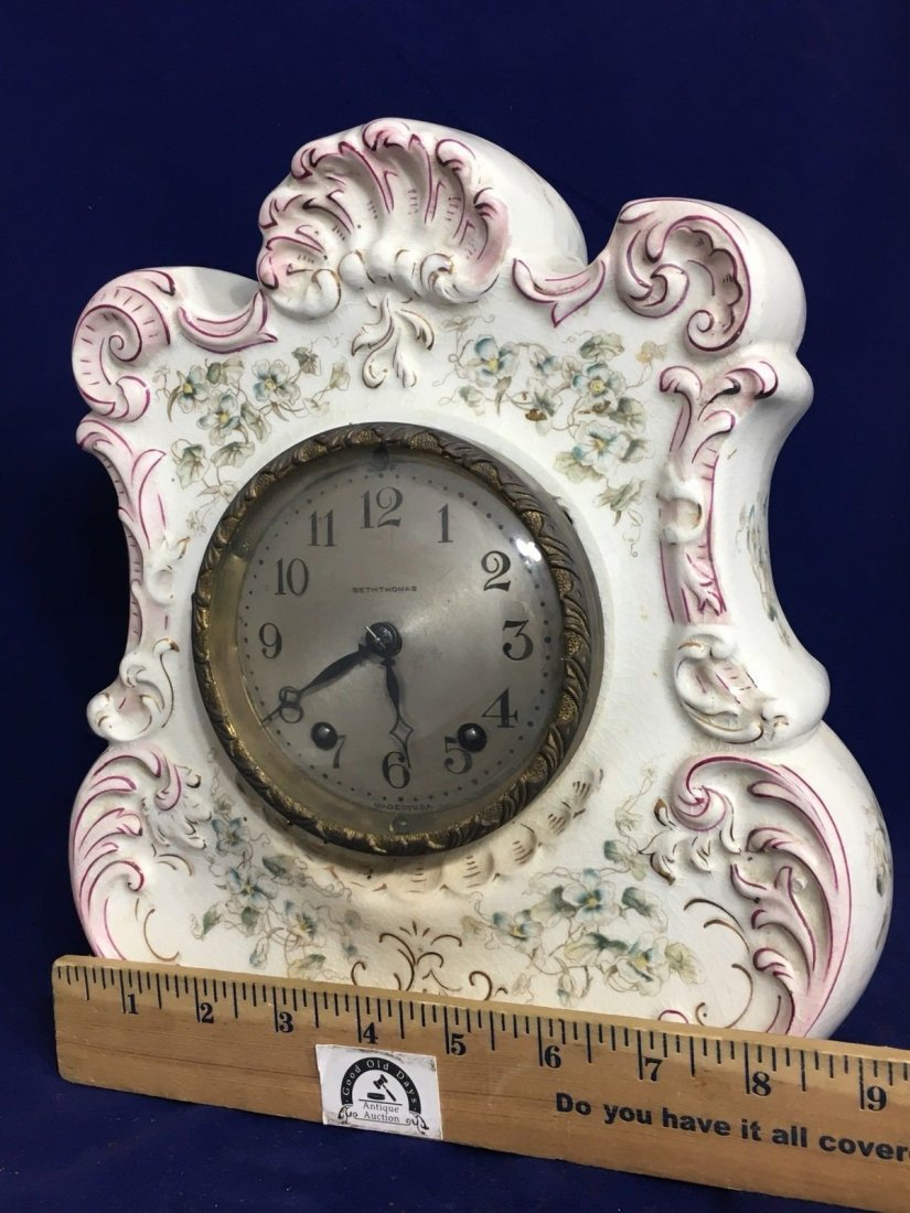 Porcelain Mantle Oakley Clock Seth Thomas - 3
